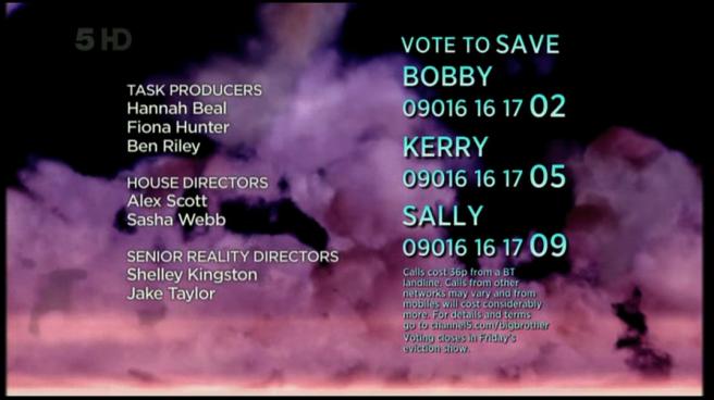 Celebrity Big Brother 2011 credits