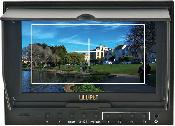 Lilliput 7 inch monitor with HDMI in and out, with Peaking 32V3H-H6A