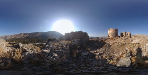 Symi Windmill Ruins Panoramic