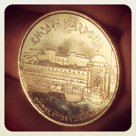 Rhodes Harbour Hellenic Heritage collectors coin