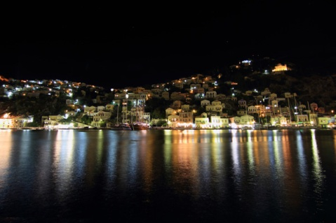 Symi by night