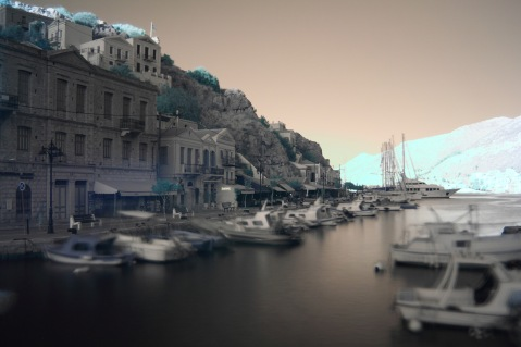 Infrared Symi Harbour