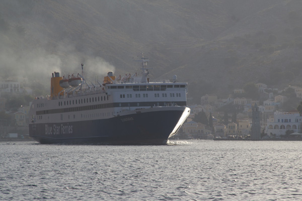 Blue Star Diagoras departs Symi