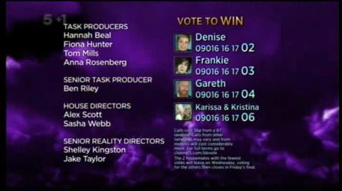 Celebrity Big Brother Credits 2011