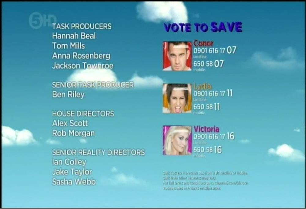 Big Brother 2012 Summer credit