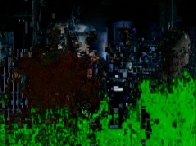MP4 green blocky pixel frame
